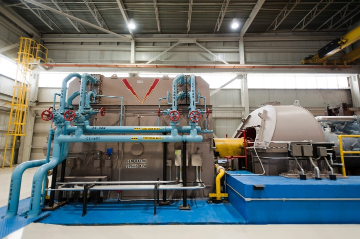 A large machine inside the Lancaster Waste-to-Energy Facility