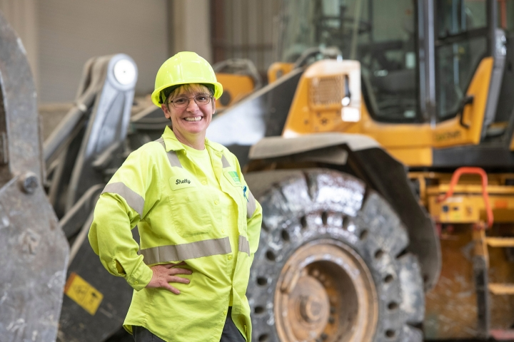 A female working inside the Susquehanna Resource Management Complex